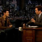Late Night With Jimmy Fallon Taylor Lautner, Kevin Pollak and The Wallflowers