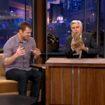 Tonight Show with Jay Leno Carson Daly and Animal Expert Dave Salmoni