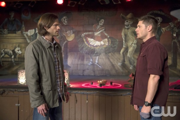 "Supernatural -- ""Brother's Keeper"" -- Image SN1022B _0213 -- Pictured (L-R): Jared Padalecki as Sam and Jensen Ackles as Dean -- Photo: Katie Yu/The CW -- © 2015 The CW Network, LLC. All Rights Reserved."