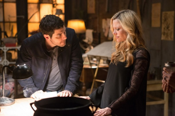 "GRIMM -- ""You Don't Know Jack"" Episode 420 -- Pictured: (l-r) David Giuntoli as Nick Burkhardt, Claire Coffee as Adalind Schade -- (Photo by: Scott Green/NBC)"