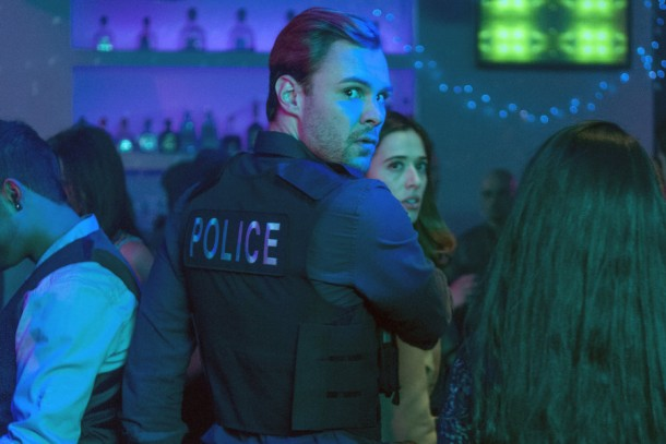 "CHICAGO P.D. -- ""Born into Bad News"" Episode 223 -- Pictured: (l-r) Patrick Flueger as Adam Ruzek, Marina Squerciati as Kim Burgess -- (Photo by: Matt Dinerstein/NBC)"