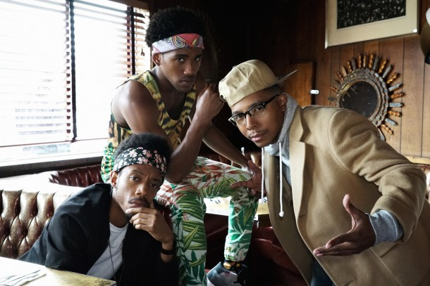 "YOU'RE THE WORST -- ""All About That Paper"" -- Episode 204 (Airs Wednesday, September 30, 10:30 pm e/p Pictured: (l-r) Darrell Britt-Gibson as Shitstain, Brandon Mychal Smith as Sam, Allen Maldonado as Honeynutz. CR: Byron Cohen/FX"