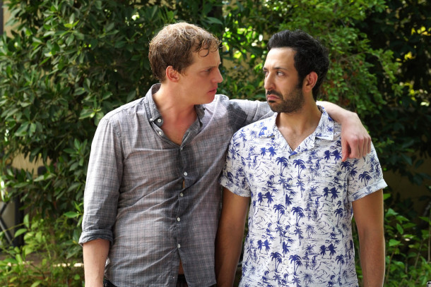 "YOU'RE THE WORST -- ""The Heart is a Dumb Dumb"" -- Episode 213 (Airs Wednesday, December 9, 10:30 pm e/p) Pictured: Chris Geere as Jimmy, Desmin Borges as Edgar. CR: Byron Cohen/FX"