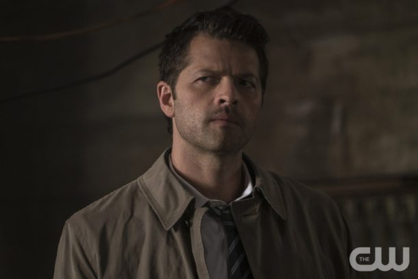 "Supernatural -- ""Mamma Mia"" -- SN1202b_0123.jpg -- Pictured: Misha Collins as Castiel -- Photo: Katie Yu/The CW -- © 2016 The CW Network, LLC. All Rights Reserved"
