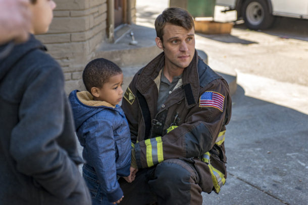 "CHICAGO FIRE -- ""One Hundred"" Episode 508 -- Pictured: Jesse Spencer as Matthew Casey -- (Photo by: Matt Dinerstein/NBC)"