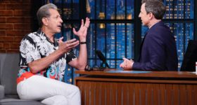 Jeff Goldblum talks about his musical collaboration with Sarah Silverman and more on 'Late Night with Seth Meyers'