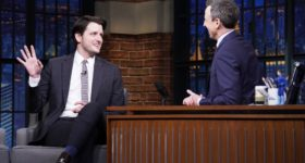 Claire Danes and Zach Woods on 'Late Night with Seth Meyers'